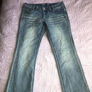 Angels Low Rise Boot Cut Denim Jeans Size 9